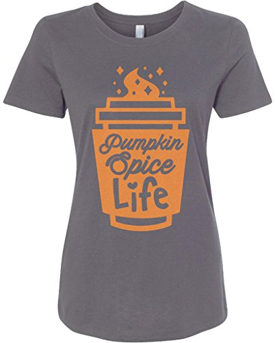 Threadrock Women's Pumpkin Spice Life T-shirt L Charcoal