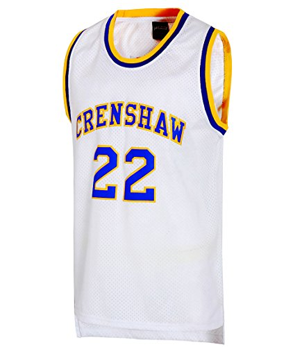 JOLI SPORT Omar EPPS Quincy McCall 22 Crenshaw High School Mens Basketball Jersey S-XXXL White