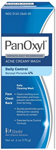 PanOxyl - 4 acne cream wash 4% Benzoyl Peroxide 6 Oz