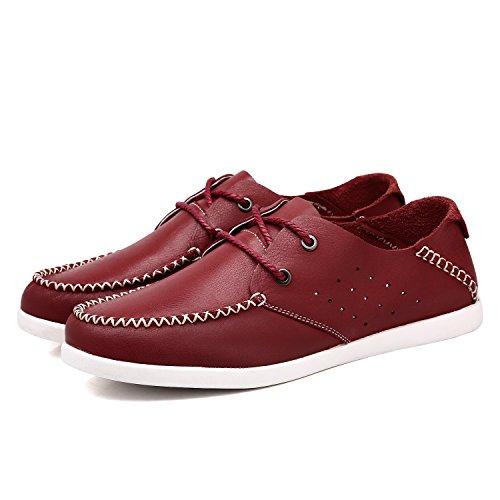 Do. bomrvii Herren Echtes Leder Schuhe Schnürschuh Rot