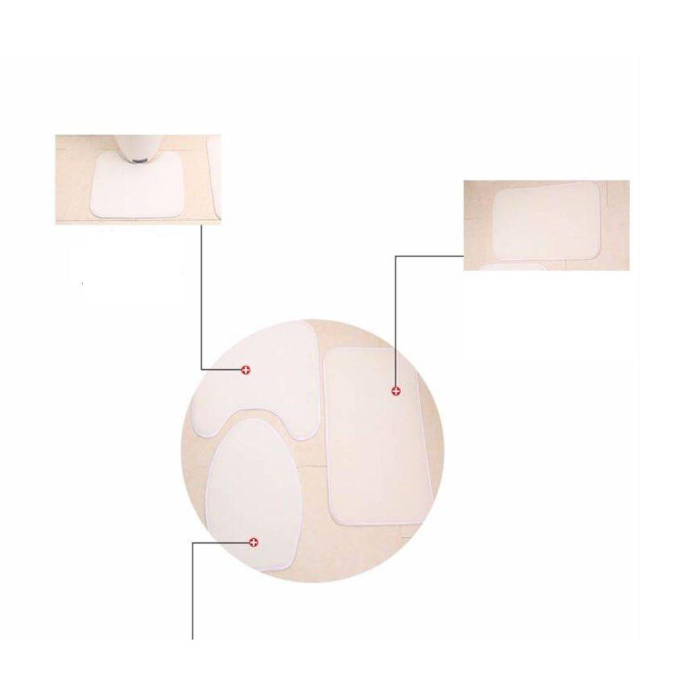 Non Slip 3 Piece Bathroom Mat Sets , Pedestal Rug + Lid Toilet Cover + Bath Mat Set Flannel Anti-slip Mat Bathroom Decoration ( Color : B ) by Eif (Image #1)