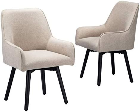 Swivel Dining Room Chairs Set of 2 Upholstered Living Room Chairs Desk Office Chair