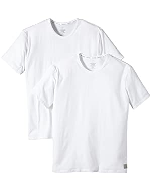 Calvin Klein Men's One Cotton Crew Neck T-Shirt (2 Pack)