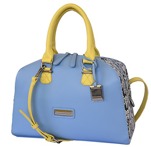 Catherine Malandrino Dylan Satchel Crossbody Bag Handbag Purse Snake Lime
