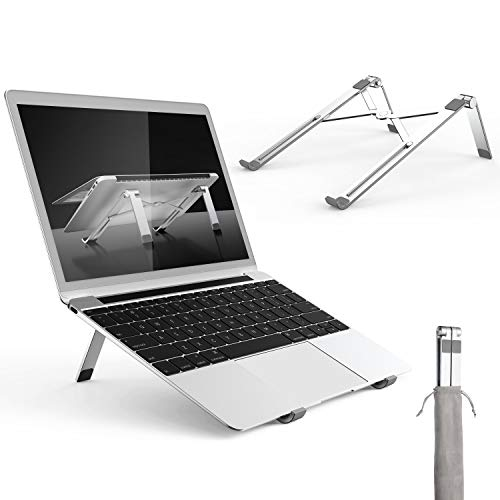 - Adjustable Laptop Stand, Portable Aluminum Notebook Holder Riser Foldable Desktop Stand Compatible with Mac Book, HP, Dell, IBM, iPad Tablet