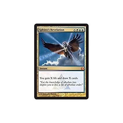Sphinx's Revelation MTG Return to Ravnica Mythic Rare EDH Collectible Card Games MTG Individual Cards