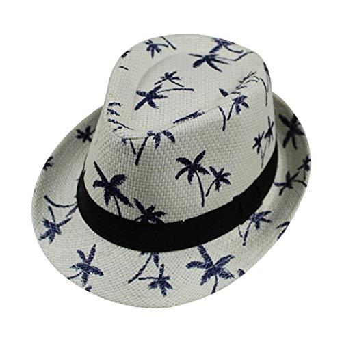 Suma-ma 4 Colors Simplicity Women's -Summer Maple Leaf Straw Beach Short Bonnet ()