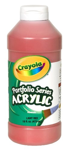 (Crayola Portfolio Series 16-Ounce Acrylic Paint, Light Red)