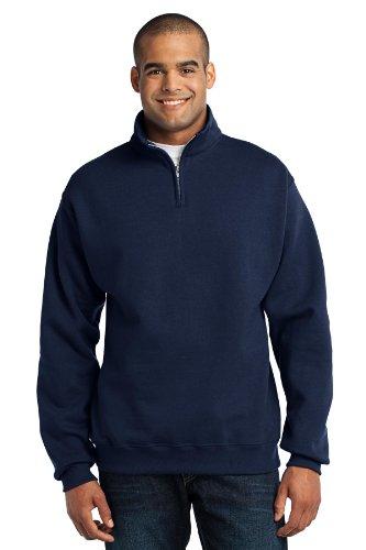 Navy 1/4 Zip Sweatshirt - 9