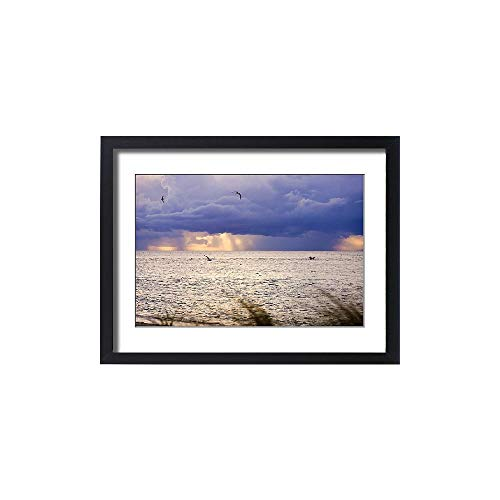Media Storehouse Framed 24x18 Print of Afternoon Storms, Redfish Pass, Captiva Island, FL (11172281) (Framed Redfish)