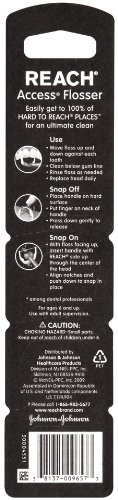 Reach Access Flosser Refill Pack Disposable Snapon heads, Unflavored, 28 Count (Pack of 2)