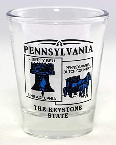 PENNSYLVANIA STATE SHOT GLASS NEW