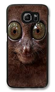 Big Face Tarsier PC Case Cover for Samsung S6 and Samsung Galaxy S6 Black hjbrhga1544