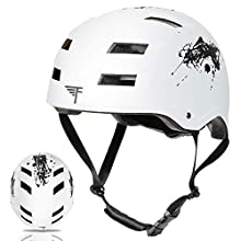 Flybar Dual Certified CPSC Multi Sport Kids & Adult Bike and Skateboard Adjustable Dial Helmet – Multiple Colors & Sizes (Splatter, L/XL)