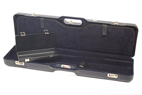 Negrini Cases 1677LR-TRANS/5044 Shotgun Case for O/U and S-Auto/ABS/2 Gun/Barrels to 36-Inch, Blue/Blue
