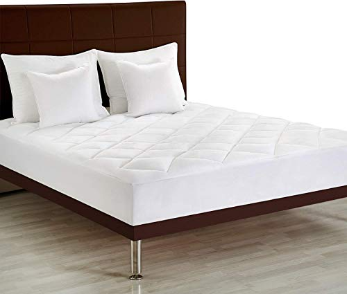 Utopia Bedding Premium Mattress Pad Twin XL - Quilted Fitted Mattress Topper Stretches Up to 15 Inches Deep - Plush and Soft Mattress Protector and Cover with Deep Pockets ()