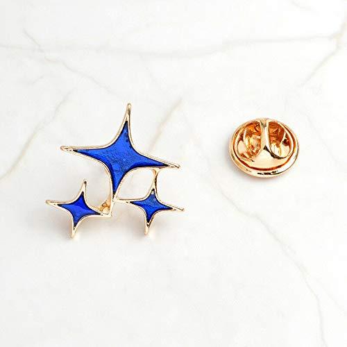 New Lovely Cute Cartoon Enamel Lapel Collar Pin Corsage Brooch Breastpin Jewelry | Color - 63 blue star