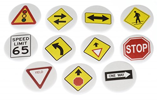 Set of 11 Traffic Signs MAGNETS - Stop Yield One Way Speed Limit