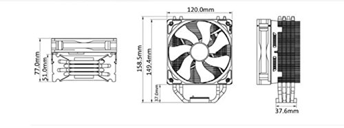 Cooler Master Hyper 212 Evo (RR-212E-20PK-R2) CPU Cooler with PWM Fan, Four Direct Contact Heat Pipes by Cooler Master (Image #6)