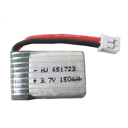 Gbell 3.7V 150mAh Lipo Battery for JJRC H36 NH010 Eachine E010 RC Quadcopter (White)