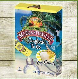 Margaritaville Singles to Go Drink Mix, Pina Colada, 6 Count (Pack of 6)