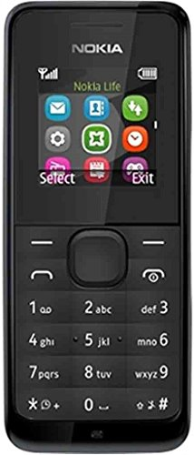 Nokia 105 RM-1135 Dual-Band (850/1900 MHz) Factory Unlocked Mobile Phone, Black, 2G Network Only. (Nokia Keypad Unlocked Mobile)