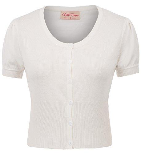 (Belle Poque Stretchy Short Sleeve Shrug Cardigan Bolero L BP707-2)