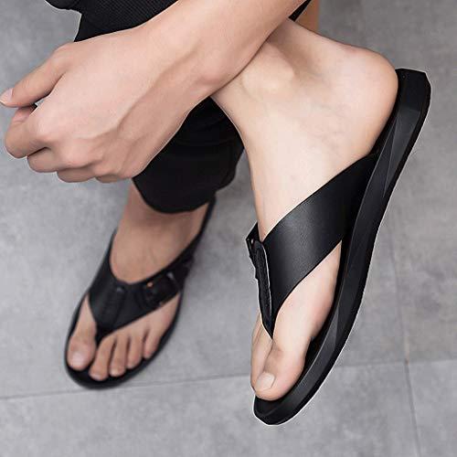 De Zapatillas Hombres Playa La Respirables Los Qar Ocasionales Cuero Verano Antideslizantes Zapatos Impermeables Del Negros Negro qgwpA