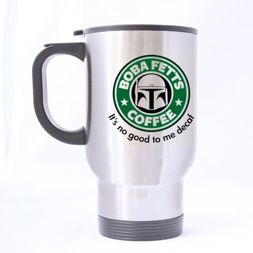 Nice Boba Fett's Coffee Mug - 100% Stainless Steel Material Travel Mugs - 14oz sizes