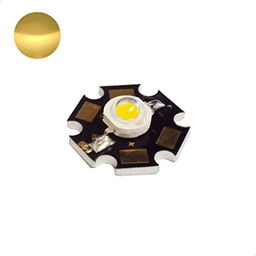1W High Power LED Chip - Cool White/Day Light - DC3.55V input - 350mA output - Star - Component - Ultra Bright - Powerchip Module - Electronic Part