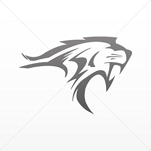 Decals Decal Lynx Wildcat Car Door Hobbies Waterproof Racing Gray Dark (5 X 3.42 Inches) ()