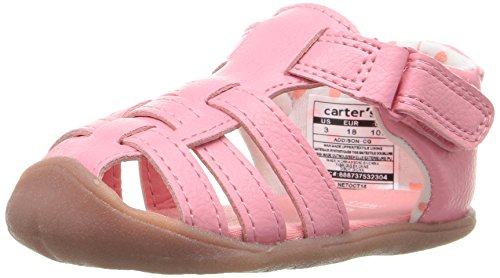 Carter's Every Step Stage 1 Girl's and Boy's Crawling Shoe, Addison, Pink, 2.5 M US Little Kid
