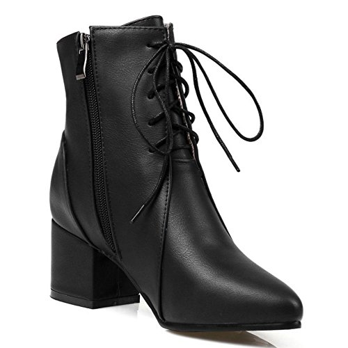 Fashion KemeKiss Zipper Boots Black Women POwO5qv