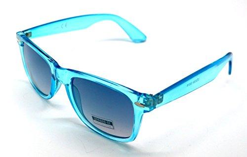 Gafas Traslucido Sunglasses Hombre Wayfarer Mujer Sol de Espejo Azul frqfz8