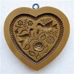 Heart with Two Doves Springerle Cookie Mold