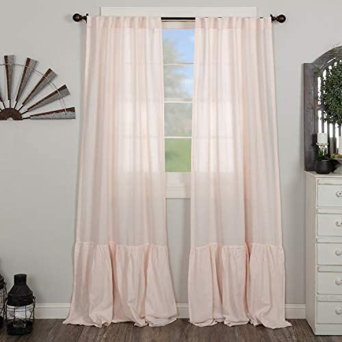 Piper Classics Annabelle Blush High Ruffle Panel Curtain