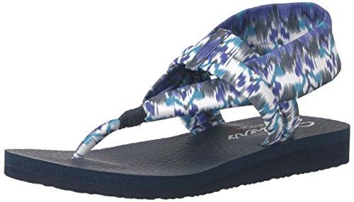 (Skechers Cali Women's Meditation Slingback Yoga Flip-Flop,Blue/Multi,6 M US)