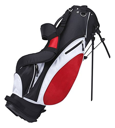Precise ES Stand Bag with Removable Side Pocket Panel for Customization, Red