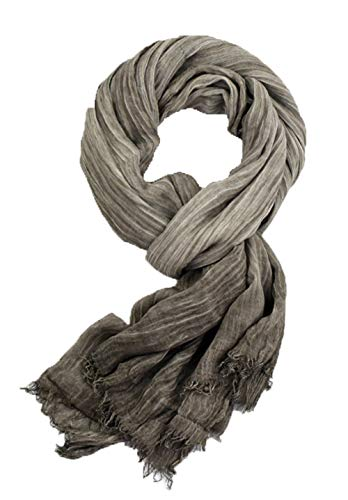 Runtlly Men's Scarf, Fashion Warm Autumn Winter Cotton Scarf, Unisex Black
