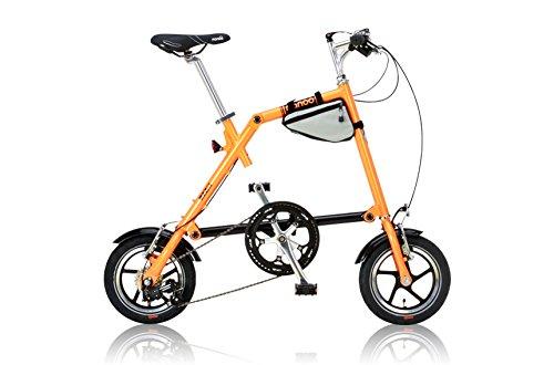 NANOO(ナノー) 折りたたみ自転車 12インチ アルミ製 シマノ7段変速 専用輸行バッグ/トライフレームバッグ付属 B00E9PLGT6 オレンジ オレンジ