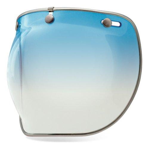 3 Snap Bubble Visor - Bell 3-Snap Bubble Deluxe Shield, Ice Blue
