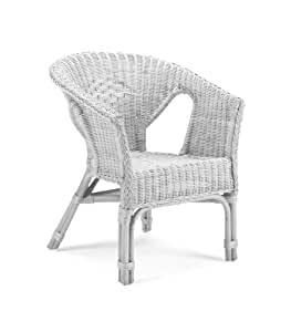 Alabama Occasional Wicker Chair White - Home Life Direct