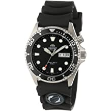 Orient Mens EM6500BB Ray Automatic Black Rubber Strap Watch