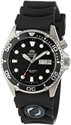 Orient Men's EM6500BB 'Ray' Automatic Stainless Steel Watch with Black Rubber Strap