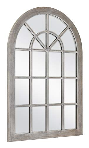 MCS 68874 Countryside Arched Windowpane Wall, Gray, 24x36 Inch Overall Size Mirror by MCS (Image #2)