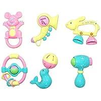 ZZ ZONEX Rattle Sweet Cuddle Infants Rattle Jhunjhuna New Born Toys Set of 6 PEC (Multicolor)