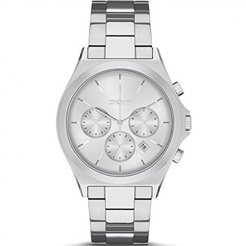DKNY Reloj analogico para Mujer de Cuarzo con Correa en Acero Inoxidable NY2378