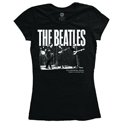 Ladies Beatles London Palladium Live Gig Rock offiziell Frauen T-Shirt Damen