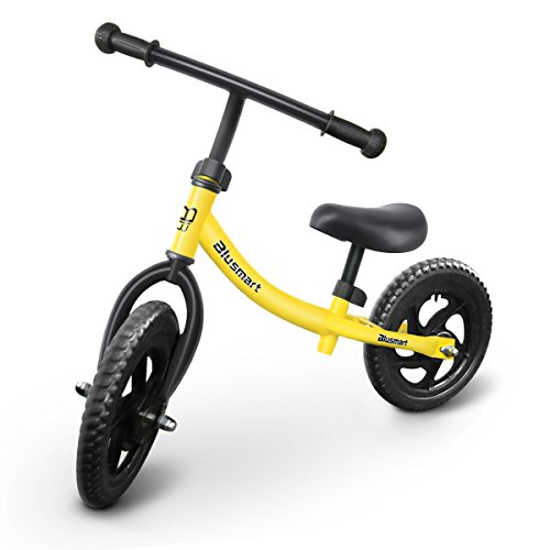 Blusmart Balance Bike Children No Pedal Sport Walking Bicycle for Kid Ages 18 Months to 5 Years Old 12 inch Lightweight Balance Training Bikes for Boy and Girl