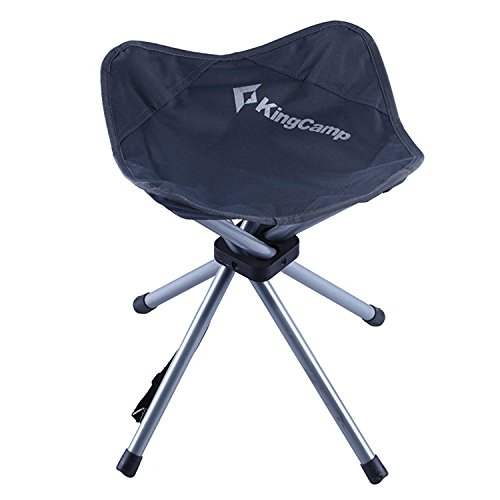 KingCamp Slacker Chair 4 Leg Stool Lightweight Compact Portable Stable Comfort Seat for Hunting Camping Hiking Outdoor Fishing